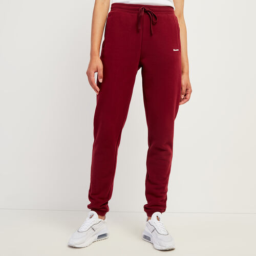 Roots-Women Slim Sweatpants-Cloud Slim Pant-Mulberry-A