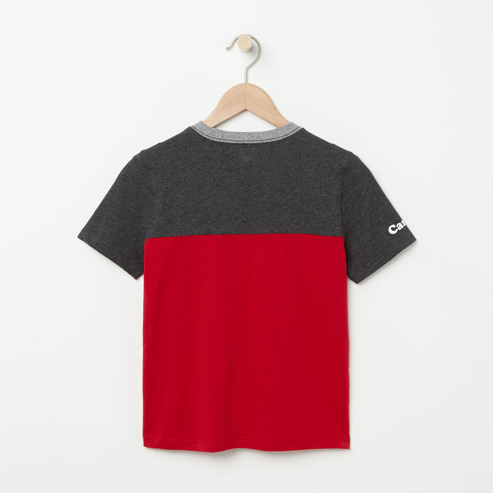 Roots-undefined-Boys Canada Colourblock T-Shirt-undefined-B