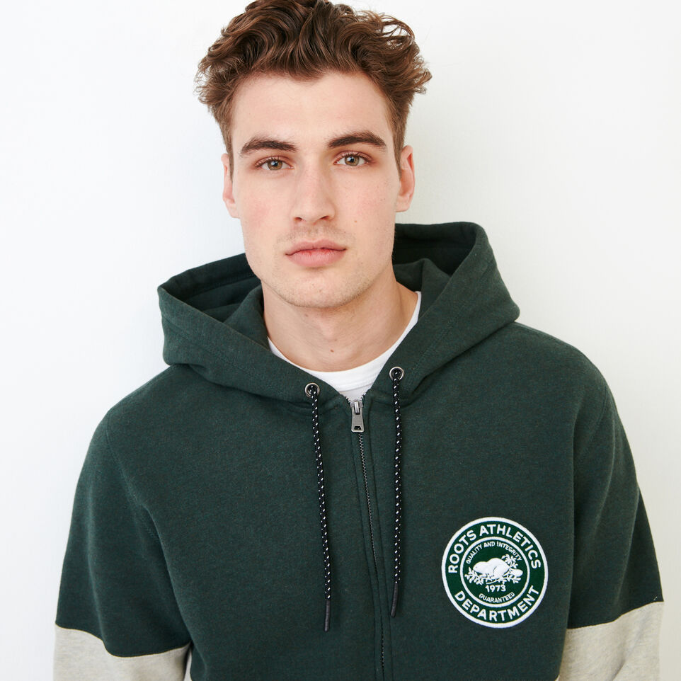 Roots-Men Our Favourite New Arrivals-Athletic Dept. Zip Hoody-Spray Green Mix-E