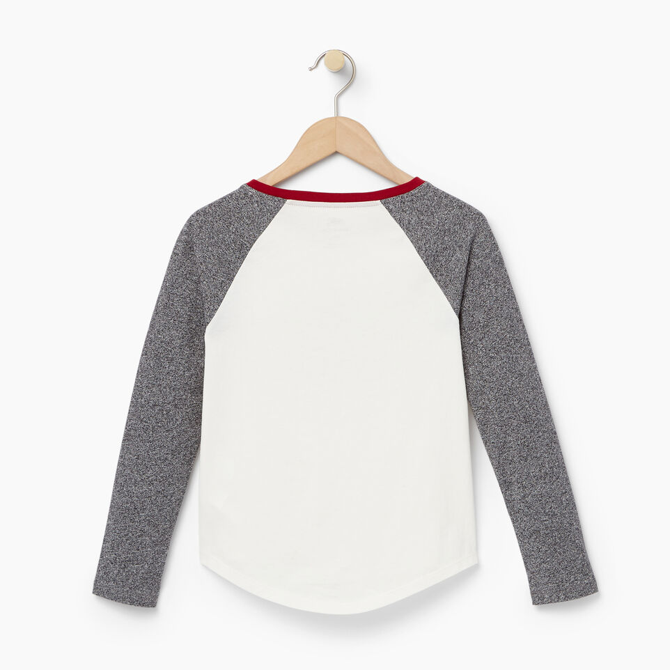 Roots-undefined-T-shirt à manches raglan Buddy pour filles-undefined-B