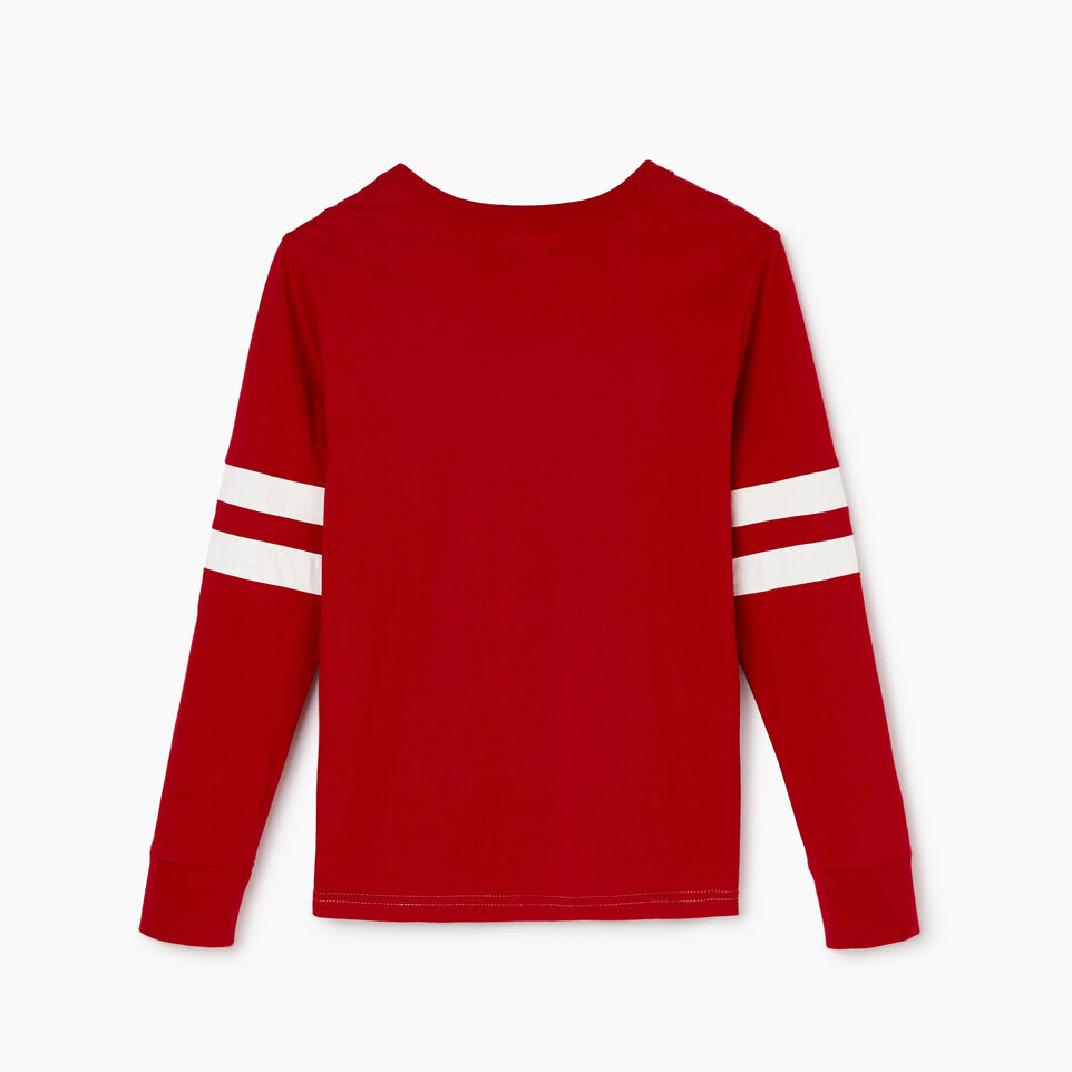 Roots-Kids Categories-Boys Hockey Team T-shirt-Sage Red-B