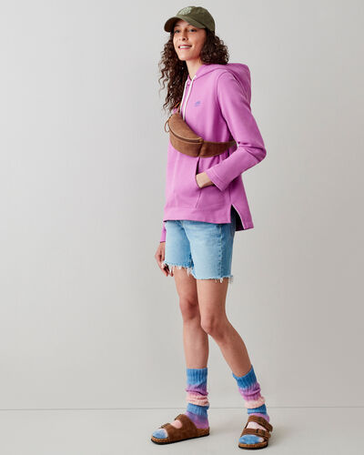 Roots-Sweats Women-Camp Pullover Hoodie-Radiant Orchid-A