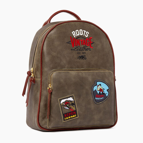 Roots-Leather  Handcrafted By Us Tribe Leather-Chelsea Pack Patch Tribe-Pine-A