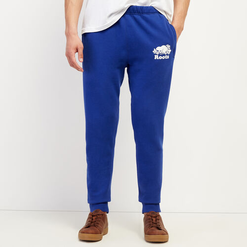 Roots-Men Bottoms-Park Slim Sweatpant-Mazarine Blue-A