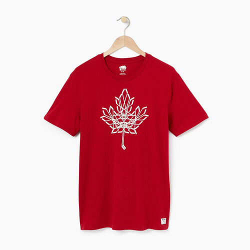 Roots-Men Graphic T-shirts-Mens Roots Hockey Canada T-shirt-Cabin Red-A