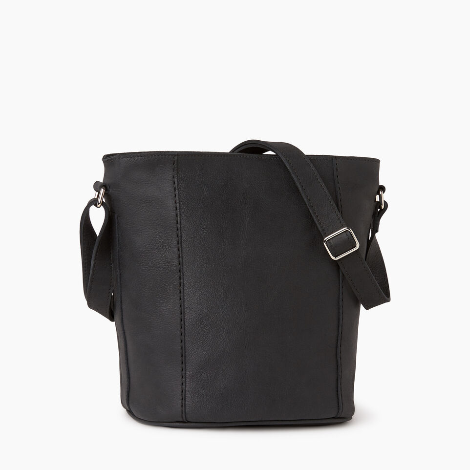 Roots-Leather  Handcrafted By Us Our Favourite New Arrivals-Victoria Bucket-Jet Black-C