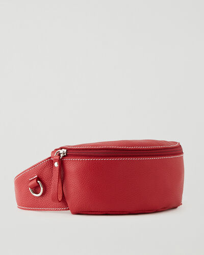 Roots-Leather New Arrivals-Small Belt Bag Cervino-Lipstick Red-A