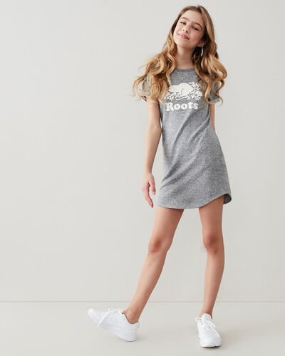 Roots-Kids Girls-Girls Edith Dress-Salt & Pepper-A