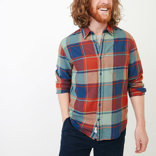Roots-New For June Plaids-Lakewood Plaid Shirt-Sargasso Sea-A