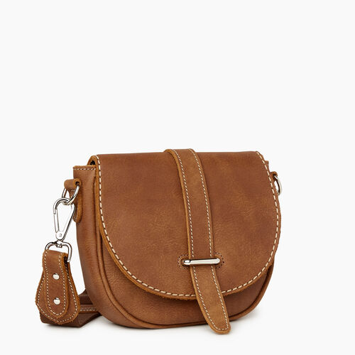 Roots-Women Crossbody-City Side Saddle Tribe-Natural-A