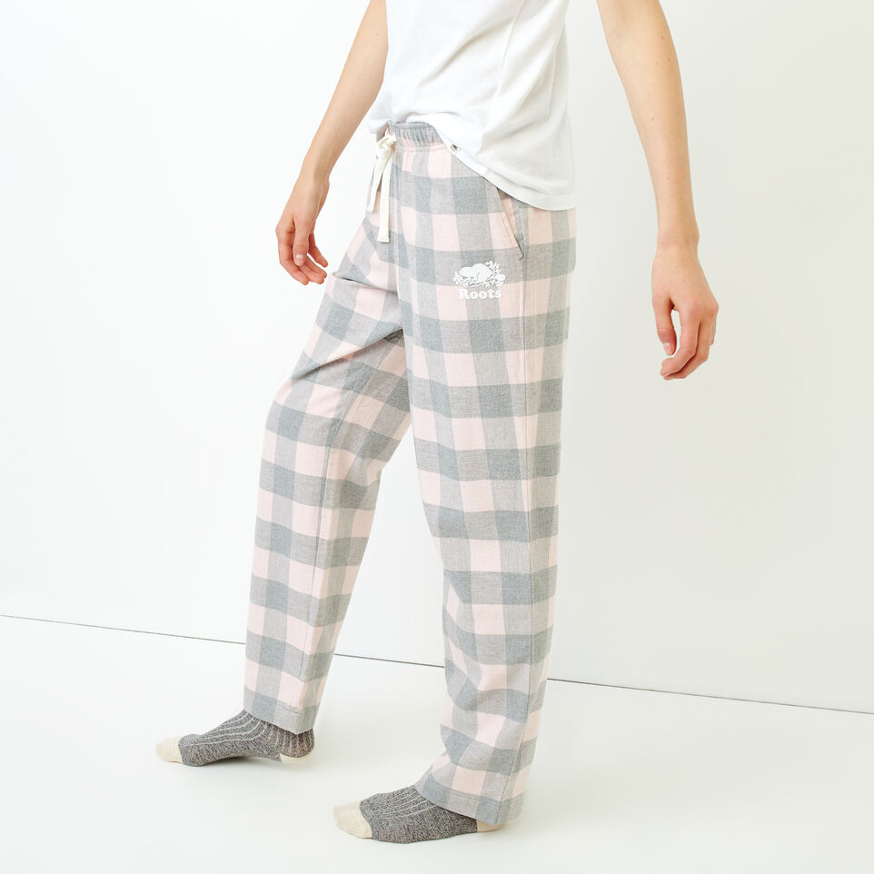 Roots-New For December Today Only: 40% Off Park Plaid Collection-Inglenook Lounge Pant-Pink Mix-C