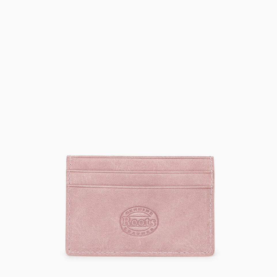 Roots-Leather New Arrivals-Card Holder Tribe-Woodrose-B