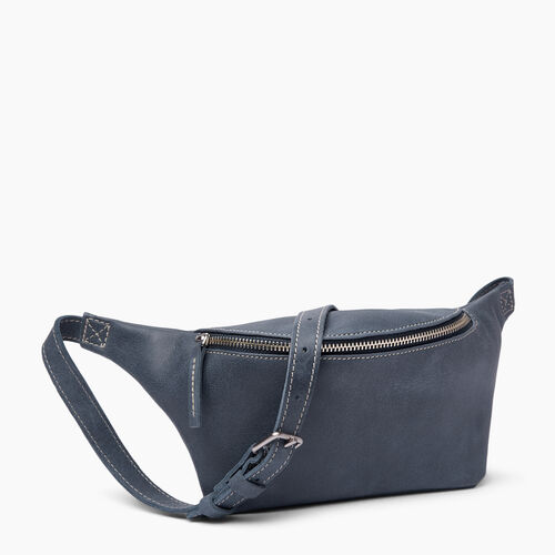 Roots-Leather  Handcrafted By Us Mini Leather Handbags-Wellesley Pack-Navy-A