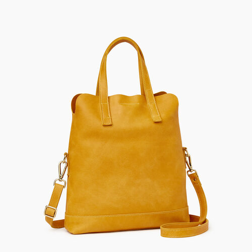 Roots-Leather  Handcrafted By Us Our Favourite New Arrivals-Junction Foldover-Squash Yellow-A