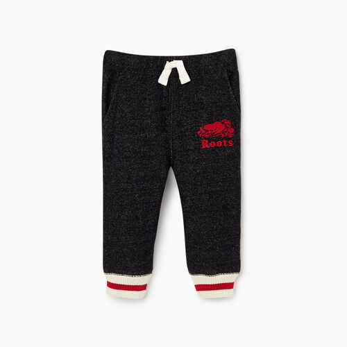 Roots-Kids Bottoms-Baby Roots Cabin Sweatpant-Black Pepper-A