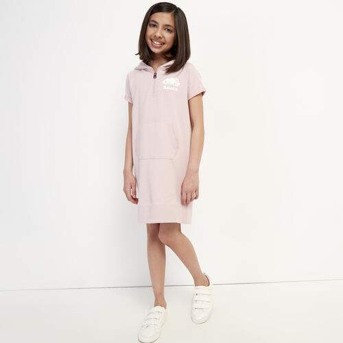 Roots-Kids Girls-Girls Dockside Hooded Dress-Burnished Lilac-A