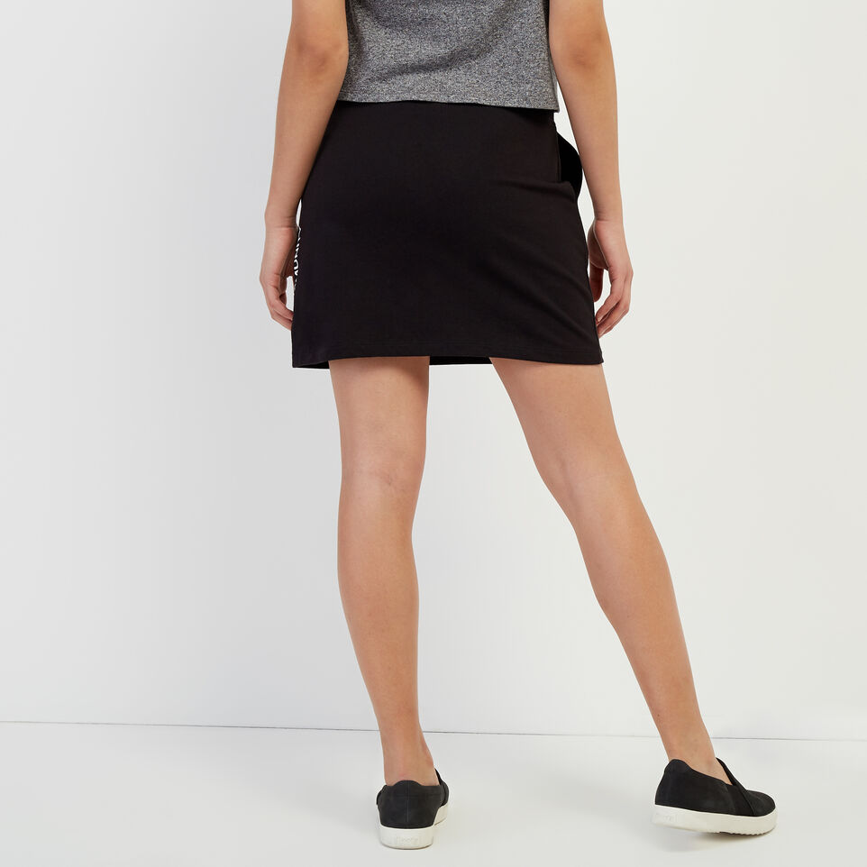 Roots-New For April Roots X Boy Meets Girl-Roots x Boy Meets Girl - Community Skirt-Black-D