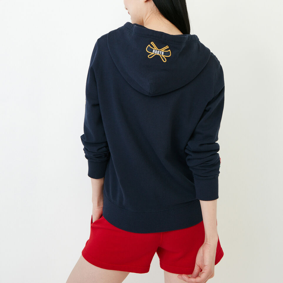 Roots-Women Our Favourite New Arrivals-Patches Full Zip Hoody-Navy Blazer-D
