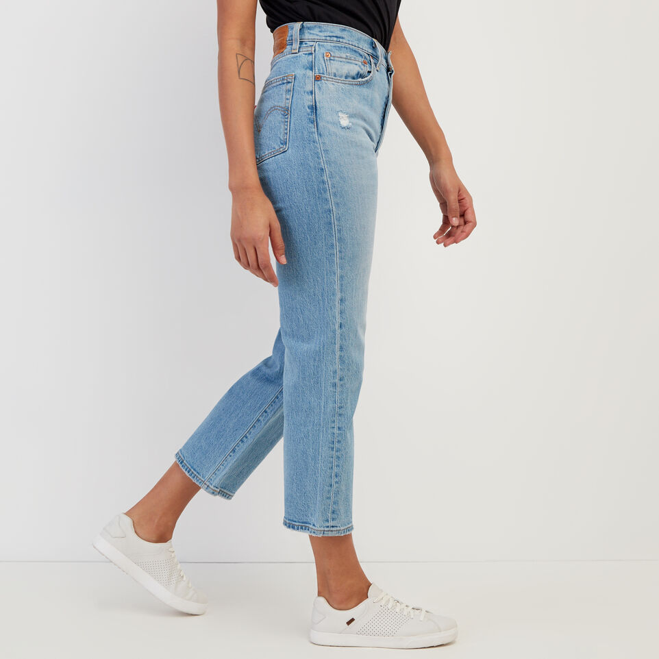 Roots-Women Clothing-Levi's Ribcage Straight Ankle Jean-Med Denim Blue-C