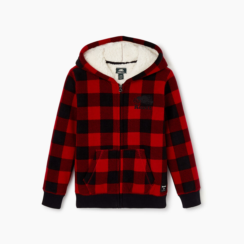 Roots-undefined-Boys Park Plaid Sherpa Lined Hoody-undefined-B