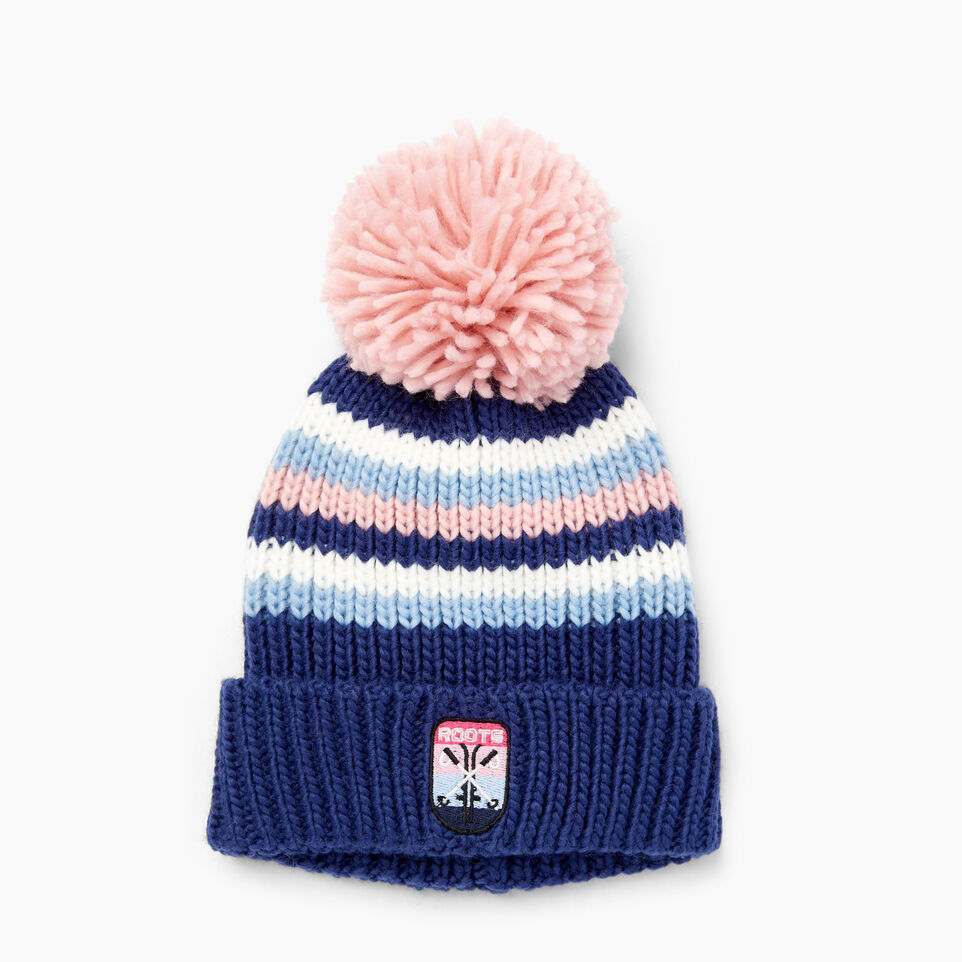 Roots-Kids Our Favourite New Arrivals-Kids Kananaskis Pom Pom Toque-Blue Depths-A