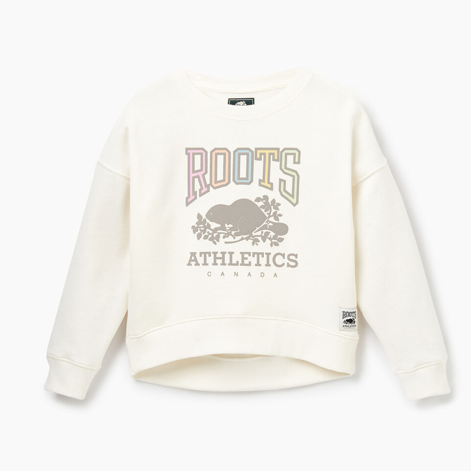 Roots-Kids Our Favourite New Arrivals-Girls RBA Crew-Egret-A