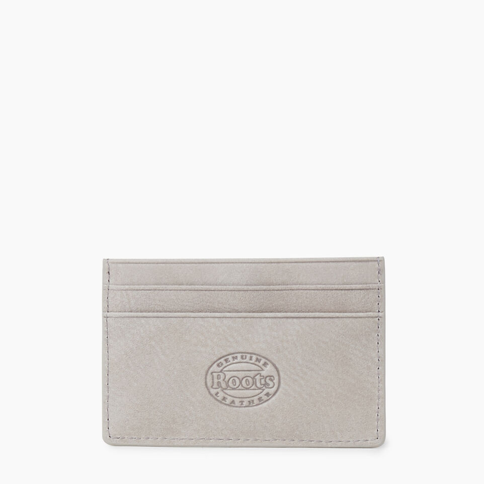 Roots-Leather  Handcrafted By Us Our Favourite New Arrivals-Card Holder Tribe-Sterling Grey-B