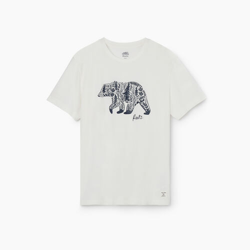 Roots-Men Clothing-Mens Animal Organic T-shirt-Natural-A