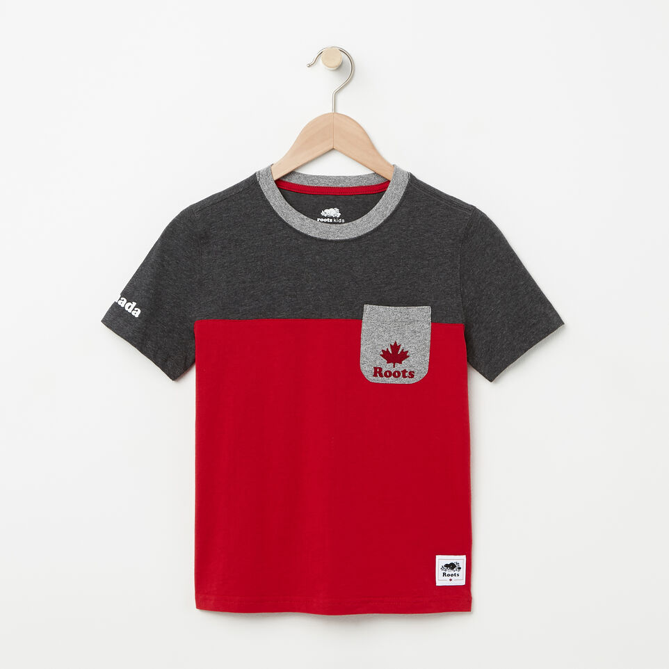 Roots-undefined-Boys Canada Colourblock T-Shirt-undefined-A