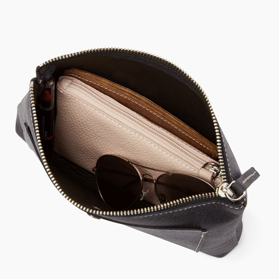 Roots-Leather  Handcrafted By Us Our Favourite New Arrivals-Carrier Pouch-Jet Black-D