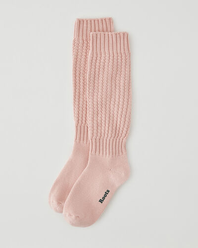 Roots-Women Accessories-Womens Camp Slouchy Sock-Silver Pink-A
