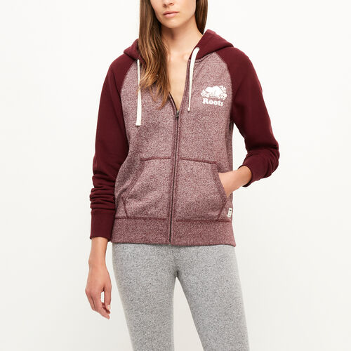 Roots-Women Categories-Colour-blocked Zip Hoody-Northern Red Pepper-A