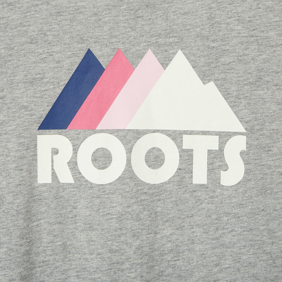Roots-Clearance Kids-Girls Roots Outdoors T-shirt-Grey Mix-D