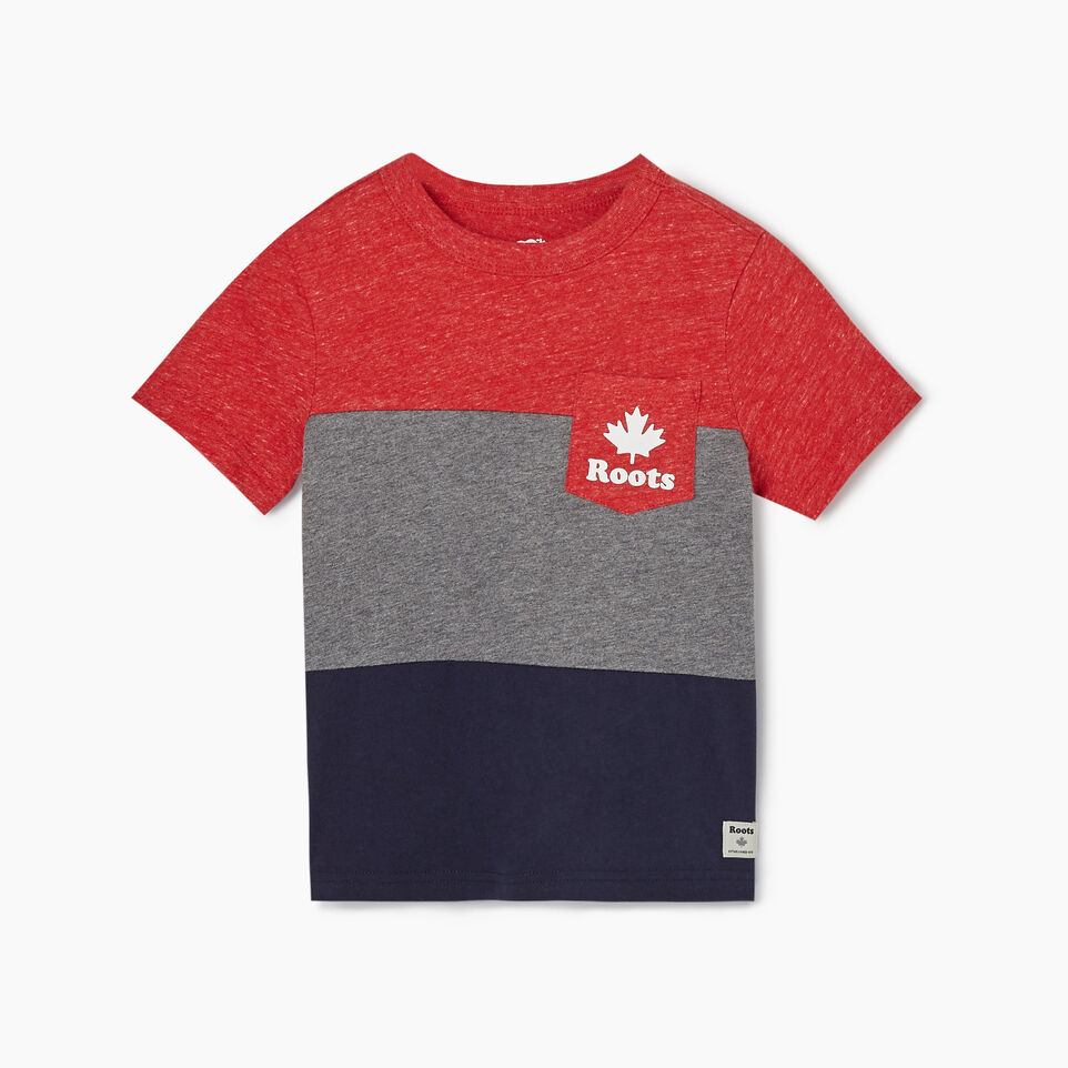 Roots-undefined-Toddler Colourblock T-Shirt-undefined-A