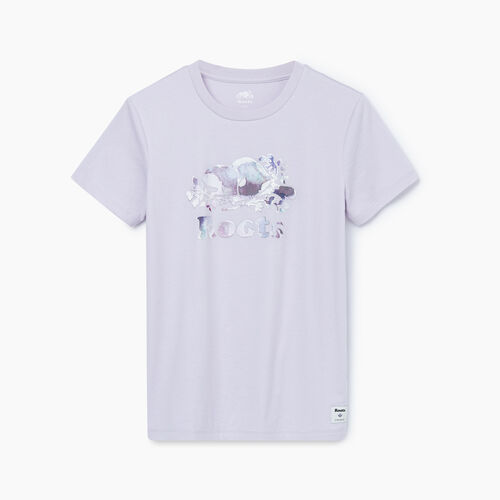 Roots-Women Graphic T-shirts-Womens Avonlea Fill T-shirt-Misty Lilac-A