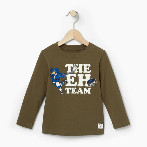 Roots-Winter Sale Toddler-Toddler Eh Team T-shirt-Fatigue-A