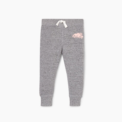 Roots-Kids Jackets-Toddler Cozy Fleece Sweatpant-Salt & Pepper-A