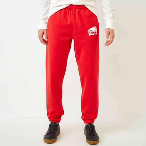 Roots-Men Our Favourite New Arrivals-Original Sweatpant-Racing Red-A