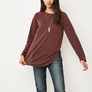 Roots-Sale Tops-New Jules T-shirt-Crimson Mix-A