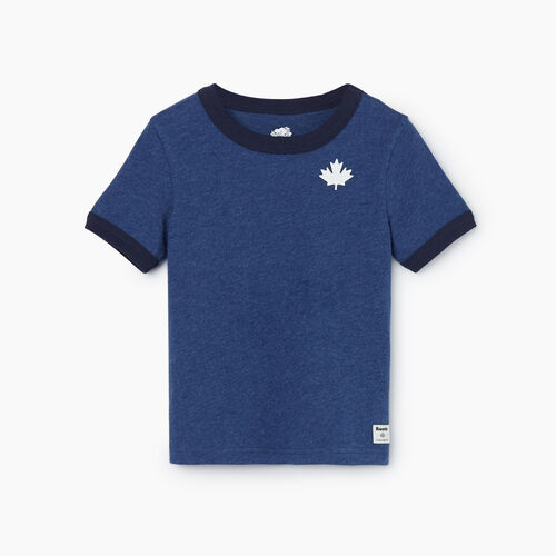 Roots-Kids Tops-Toddler Canada Ringer T-shirt-Admiral Blue Mix-A