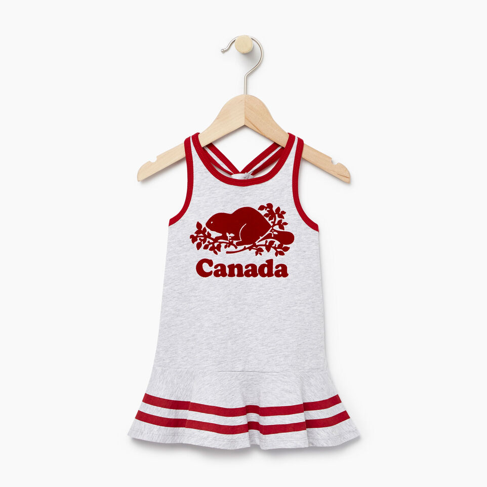 Roots-Kids New Arrivals-Baby Canada Tank Dress-Snowy Ice Mix-A