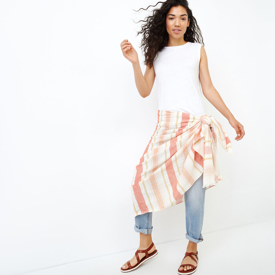 Roots-Women Our Favourite New Arrivals-Tonquin Sarong-Burnt Ochre-A