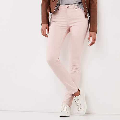 Roots-Sale Bottoms-Stretch Riley Coloured Denim-Silver Pink-A