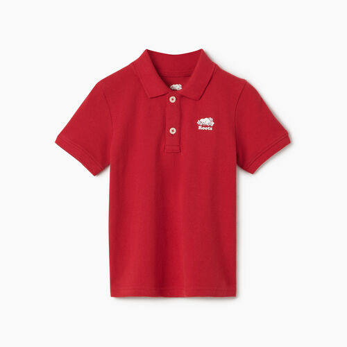 Roots-Kids New Arrivals-Toddler Heritage Pique Polo-Sage Red-A