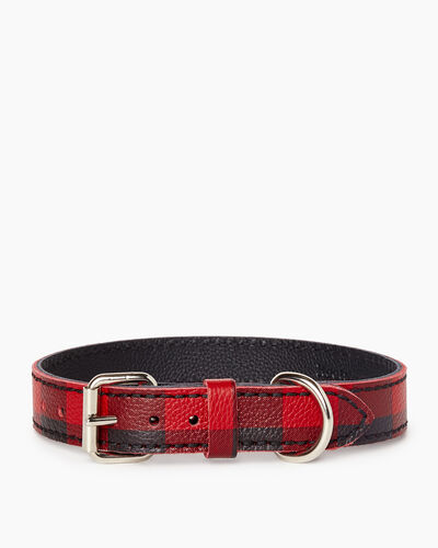 Roots-New For March Dog Accessories-Medium Leather Dog Collar-Cabin Red-A