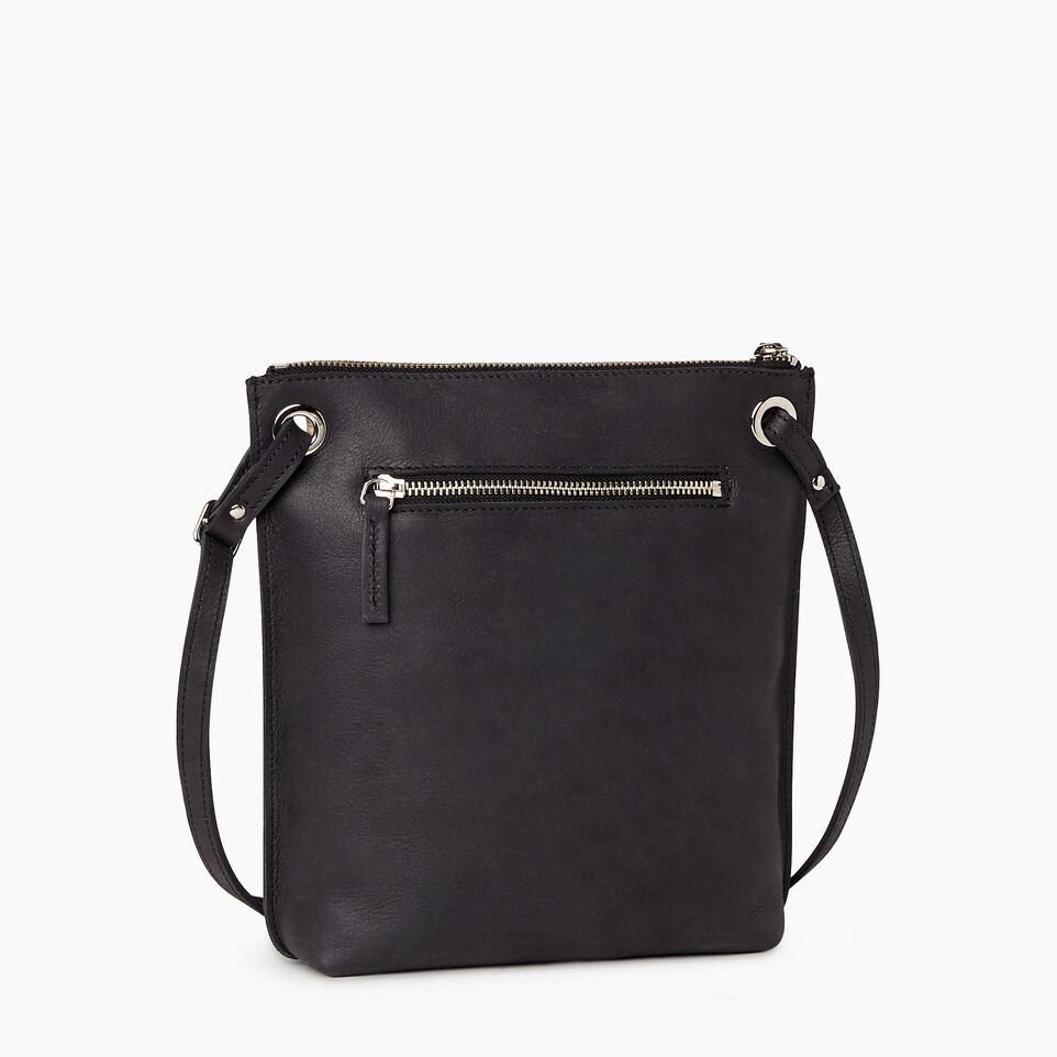 Roots-Leather  Handcrafted By Us Handbags-Festival Bag-Jet Black-C