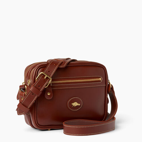 Roots-Clearance Leather-Classic Camera Bag-Oak-A