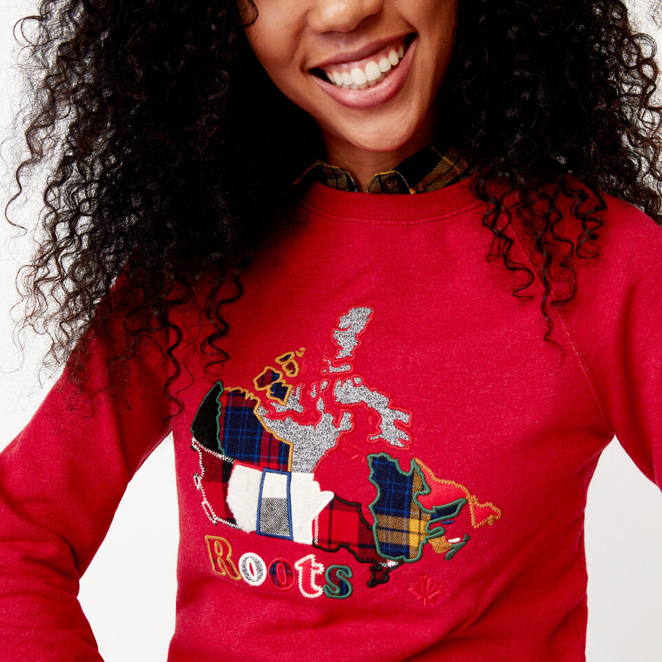 Roots-undefined-Canada Plaid Crew Sweatshirt-undefined-E