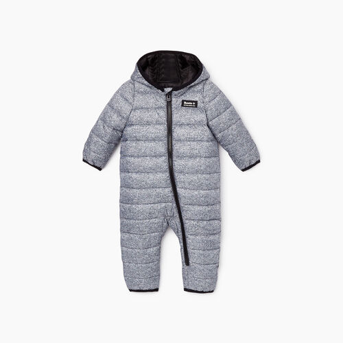 Roots-Kids Rompers & Onesies-Baby Roots Puffer Suit-Salt & Pepper-A