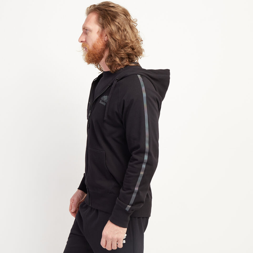 Roots-Men New Arrivals-Aurora Stripe Slim Full Zip Hoody-Black-C